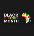 black history month banner vector image vector image