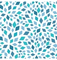 blue mosaic texture seamless pattern vector image vector image
