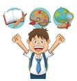 Boy kid of back to school design vector image vector image