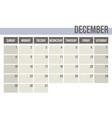 calendar planner 2019 monthly planner december vector image