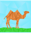 camel polygonal origami like vector image vector image