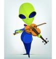 Cartoon alien violins vector image vector image
