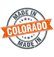 Colorado orange grunge ribbon stamp on white vector image vector image
