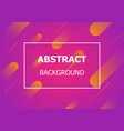 colorful background with simple geometric shape vector image vector image