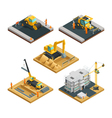 Construction Isometric Composition Set vector image vector image
