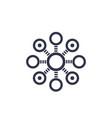 decentralization concept icon vector image vector image