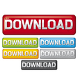 Download buttons - Web download icon vector image vector image