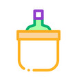 drink bottle in cooling bucket icon outline vector image vector image