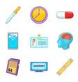 entrepreneurship support icons set cartoon style vector image vector image
