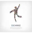 exchange people sign 3d vector image