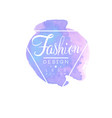 fashion logo design badge for clothes boutique or vector image vector image