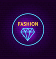 fashion neon sign vector image