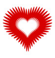 flower heart icon simple style vector image