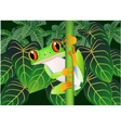 frog cartoon vector image