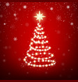 garland in form christmas tree with star xmas vector image
