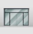 glass entrance door shopping center mall entrance vector image