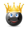 Golden crown on ball for bowling vector image vector image