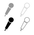 hand microphone icon outline set grey black color vector image vector image