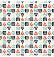 handdrawn tribal geometric pattern vector image vector image