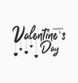 happy valentines day text banner with hearts vector image