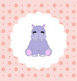 hippo baby flat vector image vector image