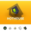 Hothouse icon in different style vector image vector image