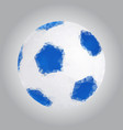 image of a soccer ball in the triangulation style vector image