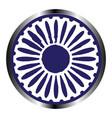 isolated chakra symbol vector image