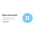 laser measurement icon banner outline template vector image vector image