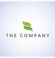 leaf logo ideas design on bac vector image vector image