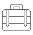 luggage thin line icon bag and baggage suitcase vector image vector image