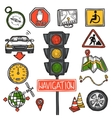 Navigation Icons Sketch vector image
