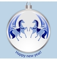 New Years blue ball vector image vector image