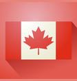 nice canada flag icon vector image vector image
