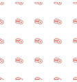 no fast food icon pattern seamless white vector image vector image