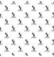 nordic combined pattern seamless vector image vector image