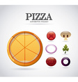 pizza ingredients design vector image