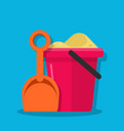 plastic bucket and shovel children set for vector image vector image