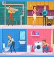 plumber 2x2 design concept vector image vector image