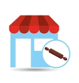rolling pin store vector image vector image