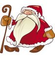 Santa Claus with cane vector image vector image
