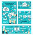 secure online data exchange in internet vector image vector image