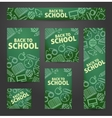 Set web of banners Back to school vector image vector image