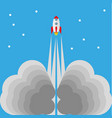 starting rocket vector image vector image