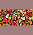 sweet merry christmas seamless pattern cute vector image vector image