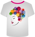 T Shirt Template- Pretty face vector image vector image