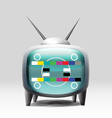 TV cartoon retro set vector image
