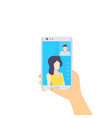 video call flat style vector image