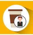 businessman character concept cup coffee break vector image