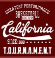 basketball california vector image